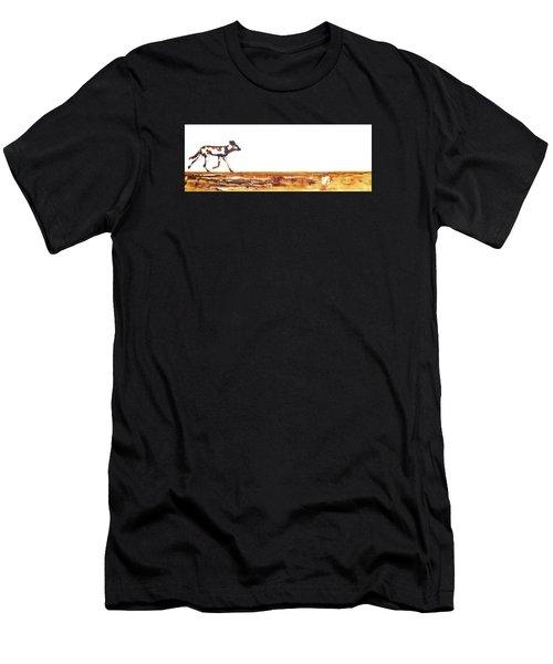 Endangered African Wild Dog - Original Artwork Men's T-Shirt (Athletic Fit)