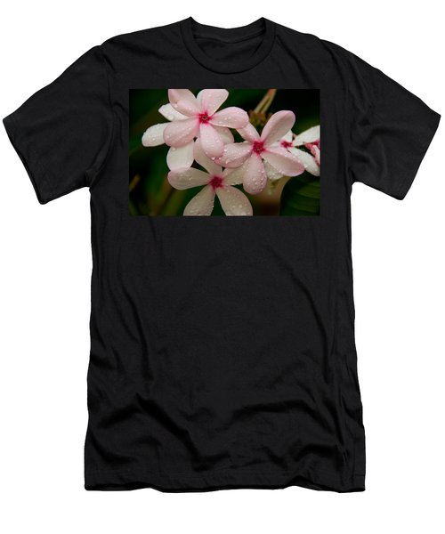 After The Rain - Pink Plumeria Men's T-Shirt (Slim Fit) by John Black