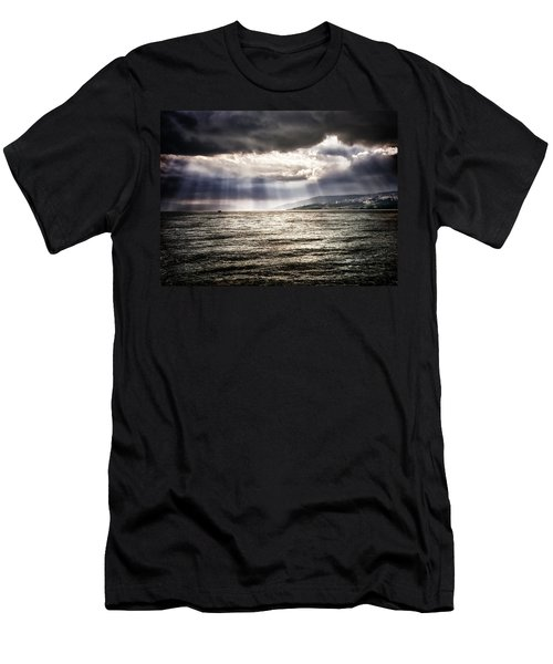After The Storm Sea Of Galilee Israel Men's T-Shirt (Athletic Fit)