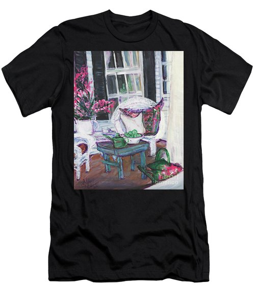 Afternoon At Emmaline's Front Porch Men's T-Shirt (Athletic Fit)