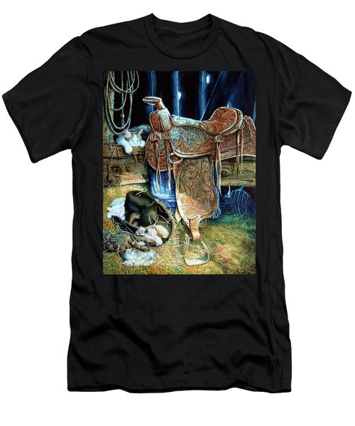 Men's T-Shirt (Athletic Fit) featuring the painting Afternoon Delight by Hanne Lore Koehler