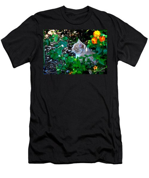 Men's T-Shirt (Slim Fit) featuring the photograph Afternoon Nap Interrupted by Susan Wiedmann
