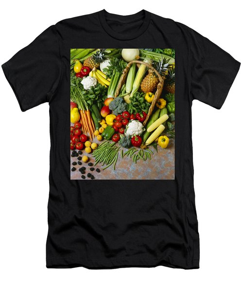 Agriculture - Mixed Fruit Men's T-Shirt (Athletic Fit)