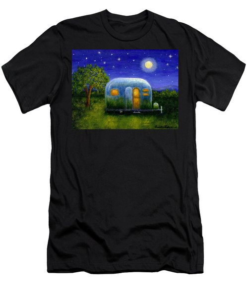 Airstream Camper Under The Stars Men's T-Shirt (Slim Fit) by Sandra Estes