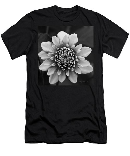 Ala Mode Dahlia In Black And White Men's T-Shirt (Athletic Fit)