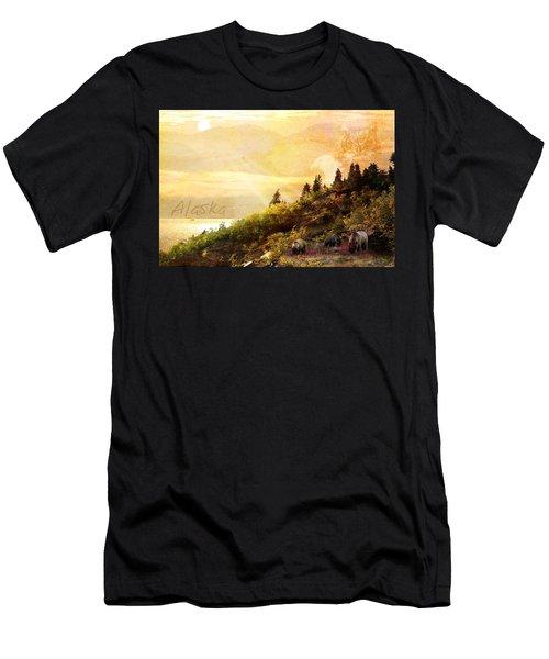 Alaska Montage Men's T-Shirt (Athletic Fit)