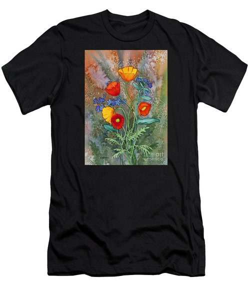 Alaska Poppies And Forgetmenots Men's T-Shirt (Athletic Fit)