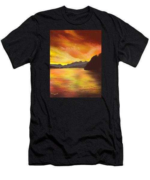 Alaska Sunset Men's T-Shirt (Athletic Fit)