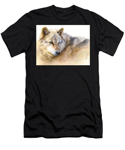 Alaskan Gray Wolf Men's T-Shirt (Athletic Fit)