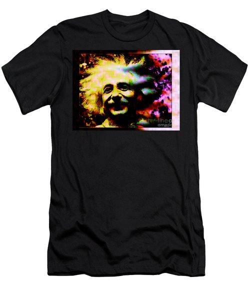 Albert Einstein - Why Is It That Nobody Understands Me - Yet Everybody Likes Me Men's T-Shirt (Slim Fit) by Elizabeth McTaggart