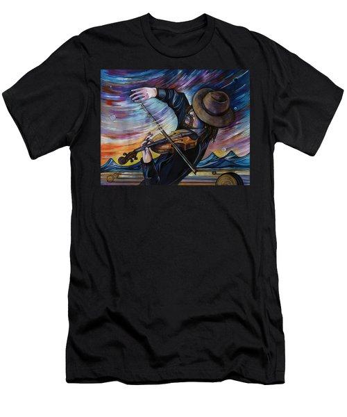 Alberta Fiddle Men's T-Shirt (Athletic Fit)