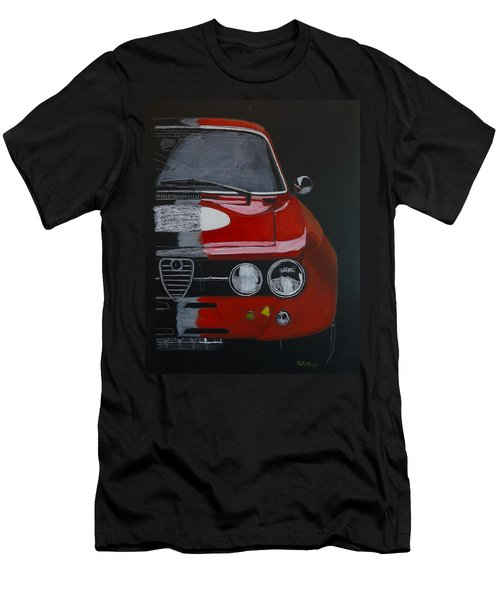 Men's T-Shirt (Athletic Fit) featuring the painting Alfa Romeo Gtv  by Richard Le Page