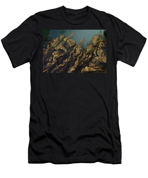 Men's T-Shirt (Slim Fit) featuring the digital art Algae by Ron Harpham