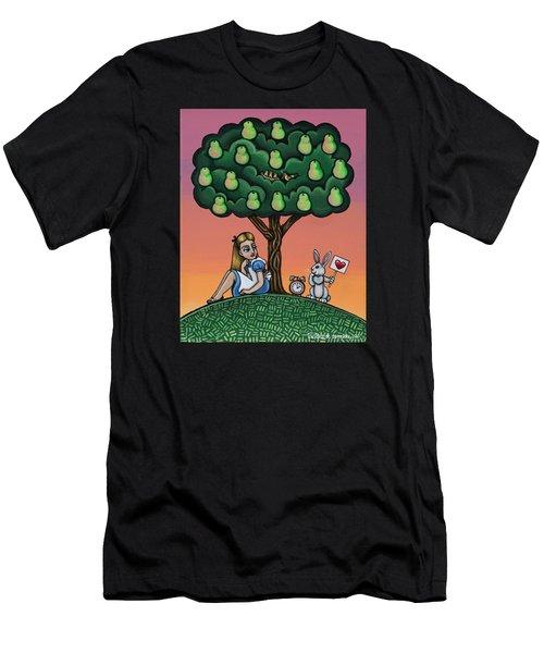 Alice In Wonderland Art Men's T-Shirt (Athletic Fit)