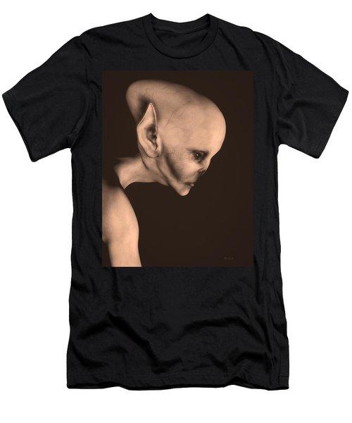 Alien Portrait  Men's T-Shirt (Slim Fit) by Bob Orsillo