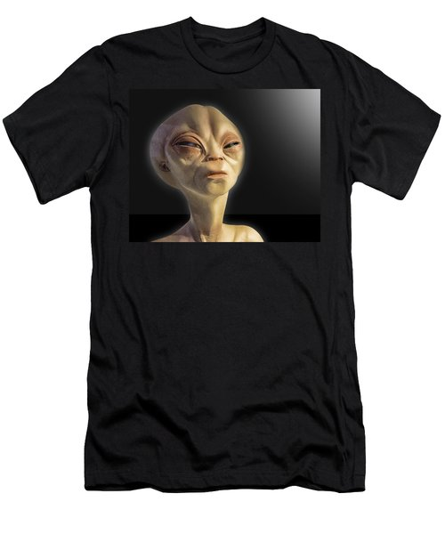 Alien Yearbook Photo Men's T-Shirt (Athletic Fit)