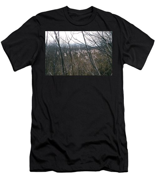 Men's T-Shirt (Slim Fit) featuring the photograph All Aglow by David Porteus