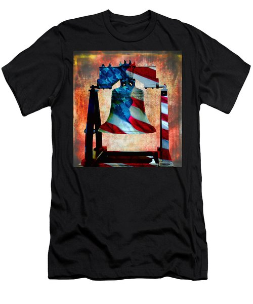 Liberty Bell Art Smooth All American Series Men's T-Shirt (Athletic Fit)