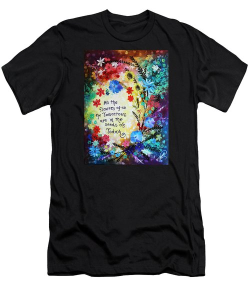All The Flowers Men's T-Shirt (Athletic Fit)