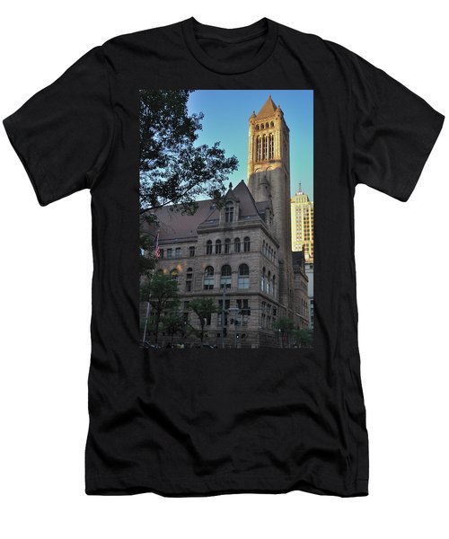 Men's T-Shirt (Slim Fit) featuring the photograph Allegheny County Courthouse by Steven Richman