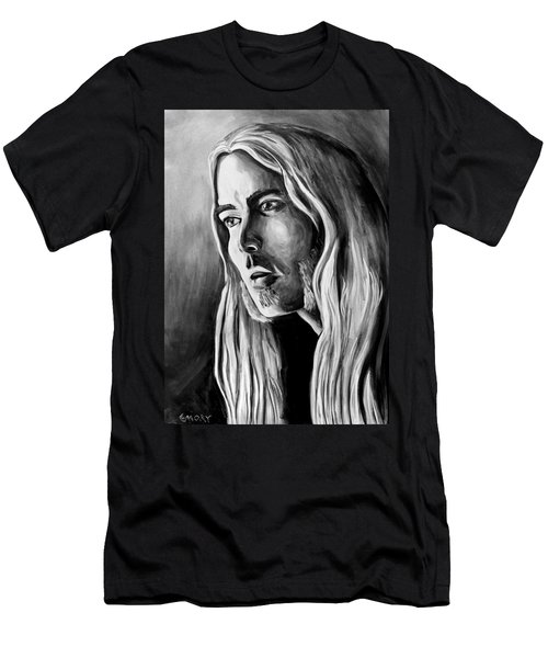 Men's T-Shirt (Athletic Fit) featuring the painting Allman by Blake Emory