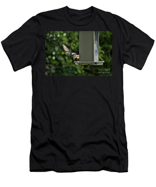 Men's T-Shirt (Slim Fit) featuring the photograph Almost A Ruff Bird Landing by Thomas Woolworth