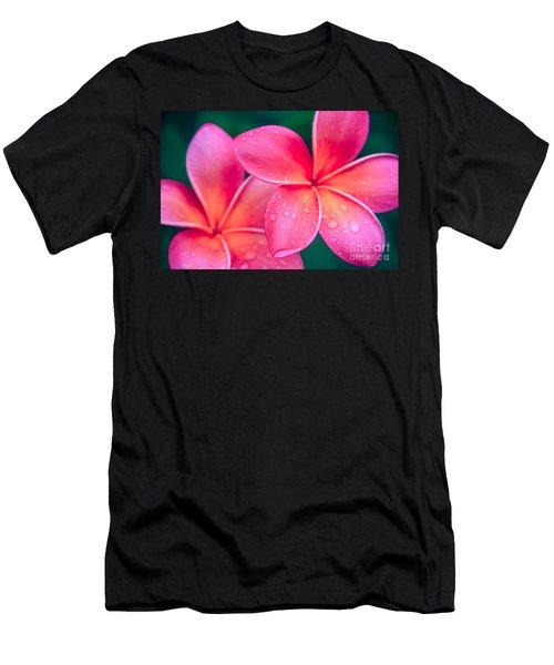 Aloha Hawaii Kalama O Nei Pink Tropical Plumeria Men's T-Shirt (Athletic Fit)