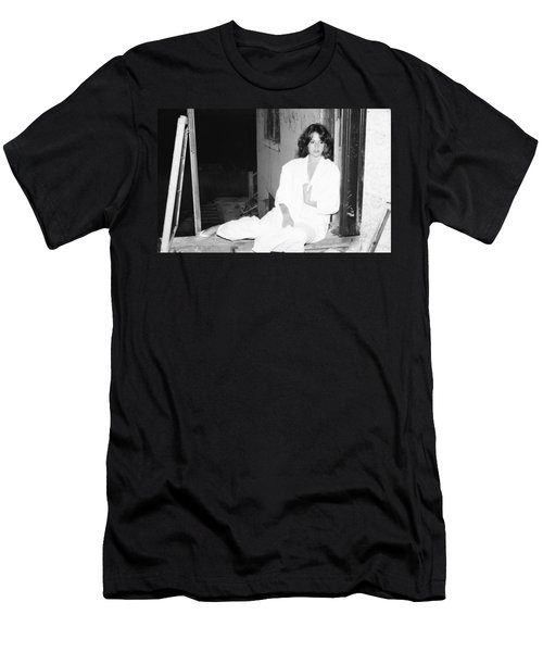 Men's T-Shirt (Slim Fit) featuring the photograph Alone And Peaceful by Steven Macanka