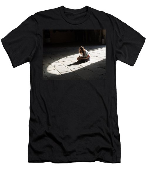 Men's T-Shirt (Slim Fit) featuring the photograph Alone In A Pool Of Light by Alex Lapidus