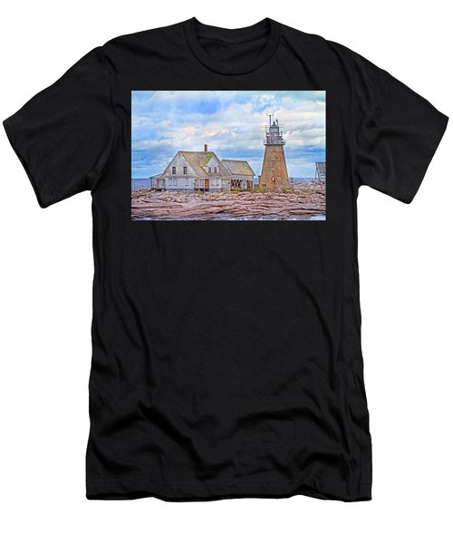 Alone On The Rocks Men's T-Shirt (Athletic Fit)
