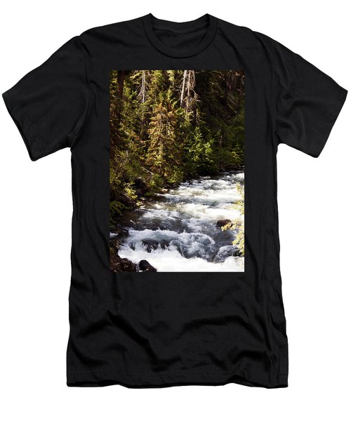 Along American River Men's T-Shirt (Athletic Fit)
