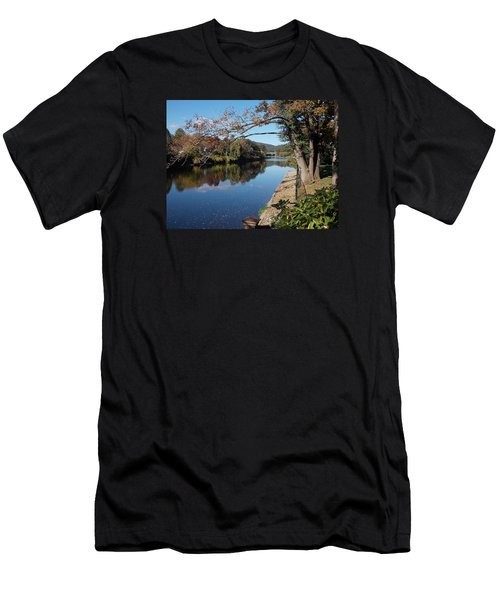 Along The River In Shelbourne Falls Men's T-Shirt (Athletic Fit)