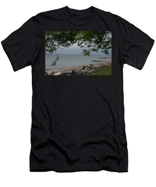 Men's T-Shirt (Slim Fit) featuring the photograph Along The Shore by Kay Novy