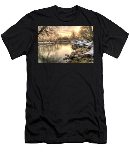 Along The Thames River  Men's T-Shirt (Athletic Fit)