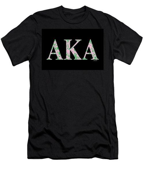 Alpha Kappa Alpha - Black Men's T-Shirt (Slim Fit) by Stephen Younts