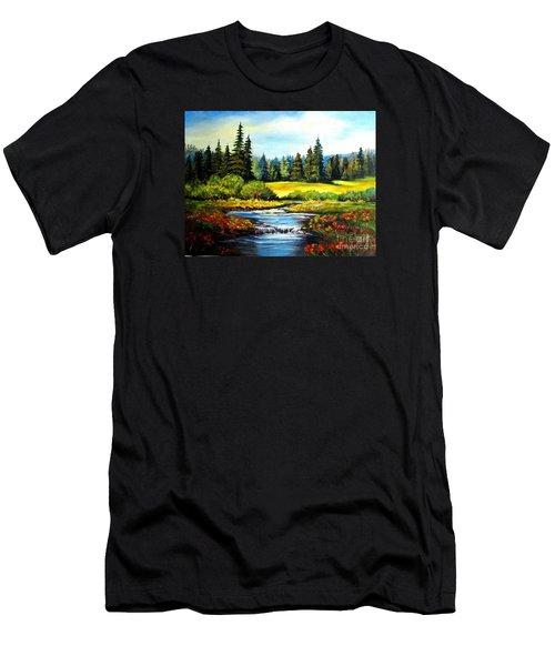 Alpine Meadow Men's T-Shirt (Slim Fit) by Hazel Holland