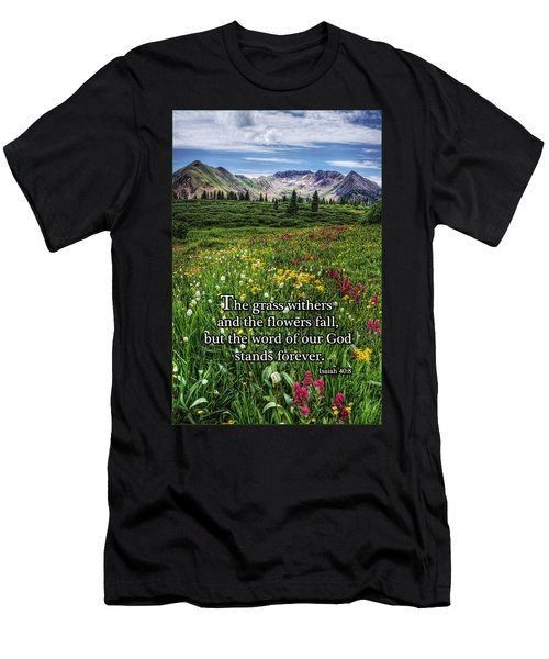 Men's T-Shirt (Slim Fit) featuring the photograph Alpine Meadow by Priscilla Burgers