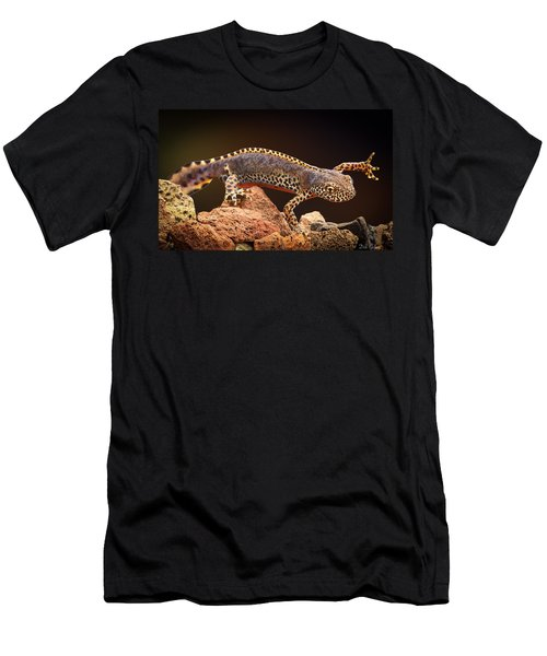 Alpine Newt Men's T-Shirt (Slim Fit) by Dirk Ercken