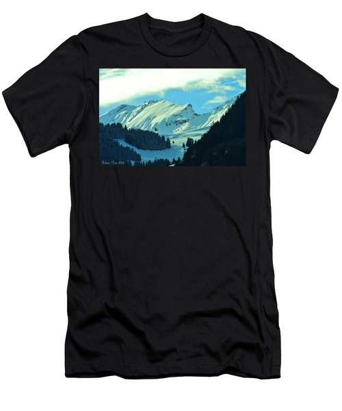 Alps Green Profile Men's T-Shirt (Slim Fit) by Felicia Tica