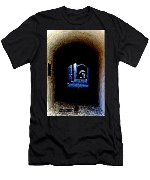Altered Arch Walkway Men's T-Shirt (Slim Fit) by Richard Rosenshein