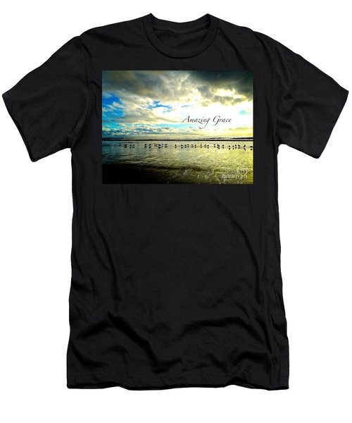 Men's T-Shirt (Slim Fit) featuring the photograph Amazing Grace Sunrise 2 by Margie Amberge