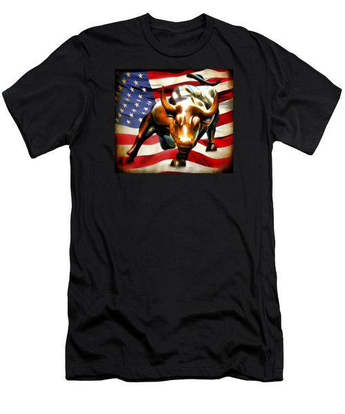 America Taking Charge Men's T-Shirt (Slim Fit) by Athena Mckinzie