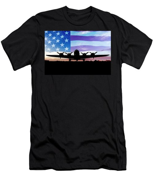 American B-17 Flying Fortress Men's T-Shirt (Athletic Fit)