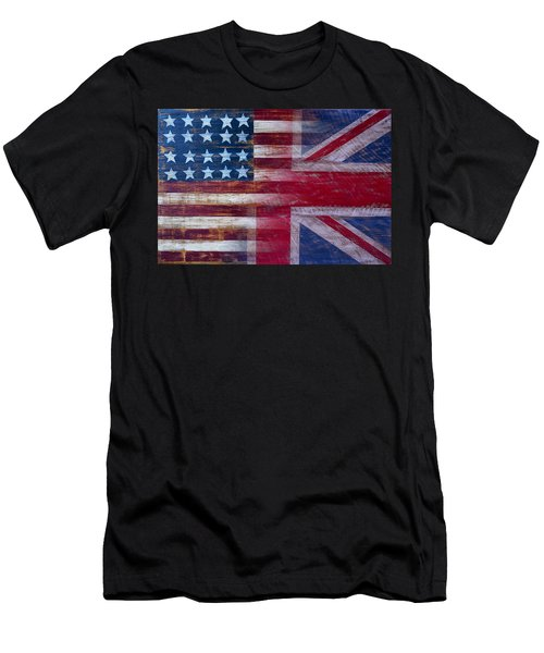 American British Flag 2 Men's T-Shirt (Athletic Fit)