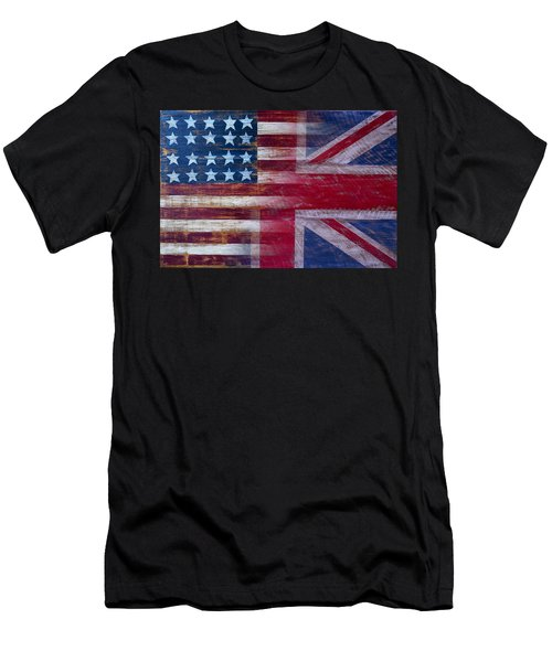 American British Flag Men's T-Shirt (Athletic Fit)