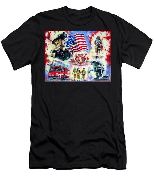 American Firefighters Men's T-Shirt (Athletic Fit)