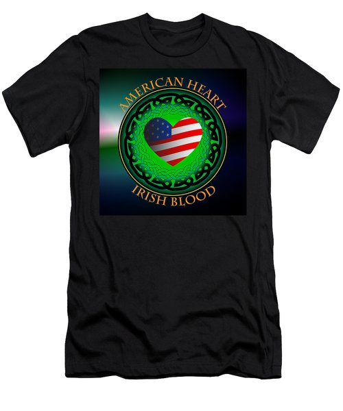 American Heart Irish Blood Men's T-Shirt (Slim Fit) by Ireland Calling