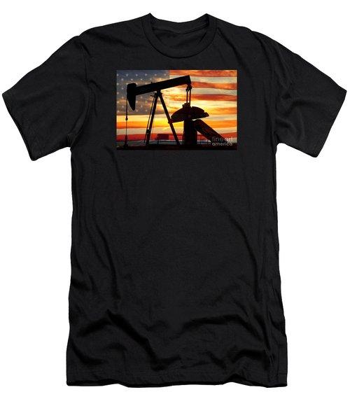 American Oil  Men's T-Shirt (Athletic Fit)