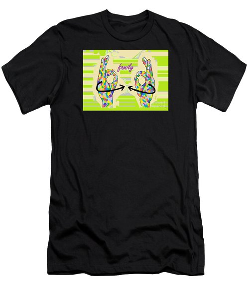 American Sign Language Family                                                    Men's T-Shirt (Athletic Fit)