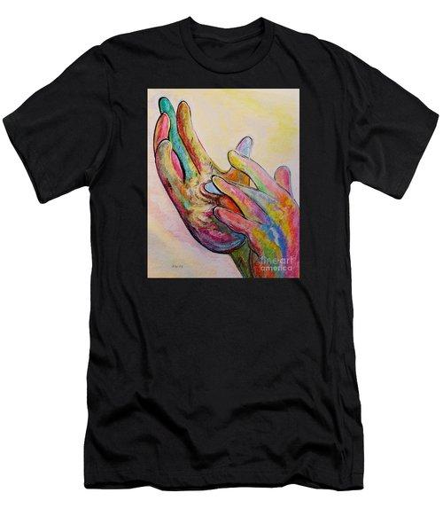 American Sign Language Jesus Men's T-Shirt (Athletic Fit)